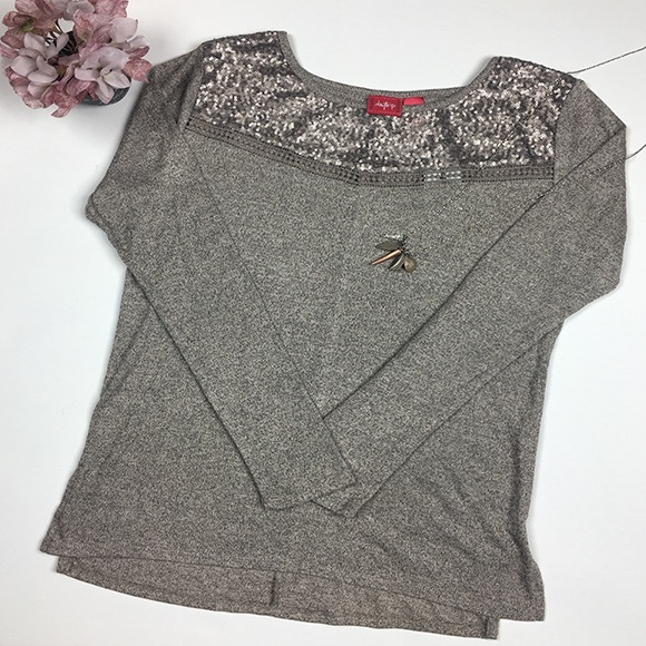 NWT BUCKLE DAYTRIP Sequin Shirt 4674326f4